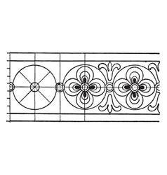 Latin evangeliarum rosette band is an 8th century vector