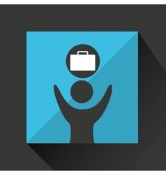 man happy with portfolio business design icon vector image