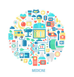 Medical and healthcare flat infographics icons vector