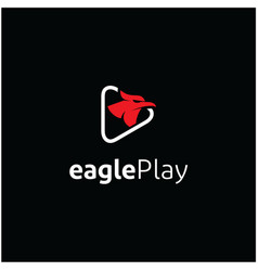 Modern eagle bird media logo icon vector