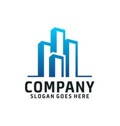 modern real estate mortgage logo vector image