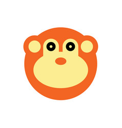 monkey cartoon animal head vector image