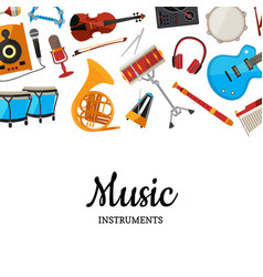 musical instruments background vector image