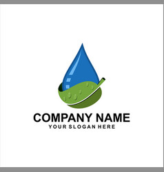 natural water logo vector image