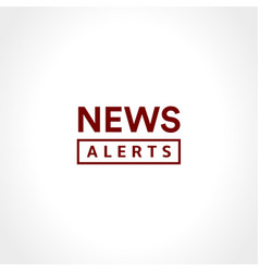 news alerts simple text icon minimalistic style vector image