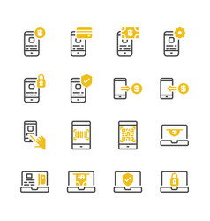 online payment icon set vector image