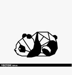 Origami cute panda vector