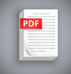 PDF paper sheet icons vector image