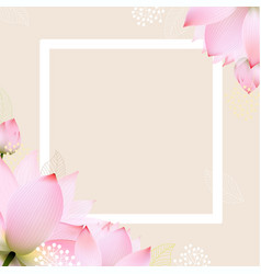 postcard with pastel flowers vector image