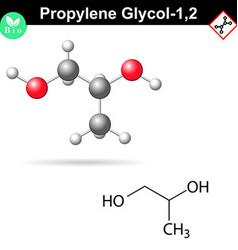 Propylene glycol 12 organic chemical solvent vector