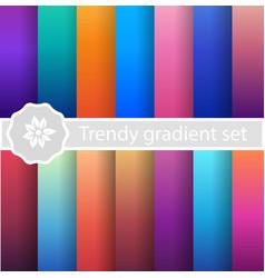 purple trendy set ultraviolet vector image