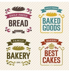 Retro Bakery Labels vector image