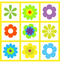 retro brigt flower vector image
