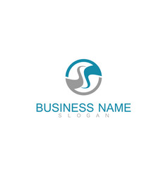 round letter s business logo vector image