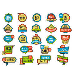round sale stickers promo tags or badges best vector image