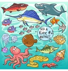 Sea and river animals - part 2 vector
