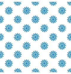 Seamless pattern from blue snowflakes vector image