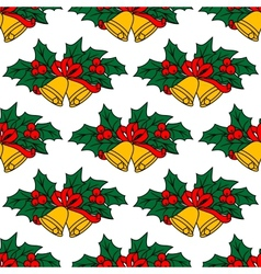 Seamless pattern with christmas bells vector