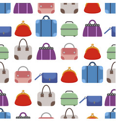 set of bags seamless pattern vector image