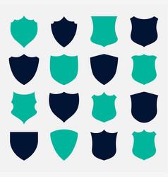 set shield symbols and icons design vector image