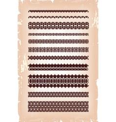 set vintage arabic pattern vector image