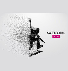 silhouette of a skateboarder vector image