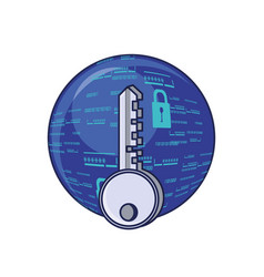 sphere browser with key and padlock vector image