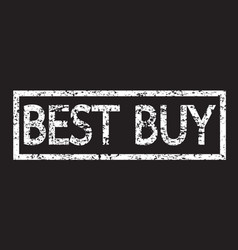 stamp text best buy vector image