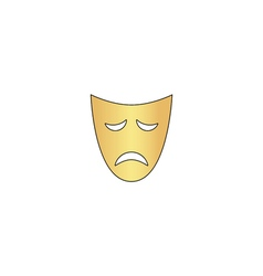 Tragedy mask computer symbol vector