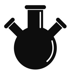 triple flask icon simple style vector image