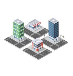 urban isometric area vector image