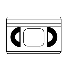 Video tape cassette icon image vector