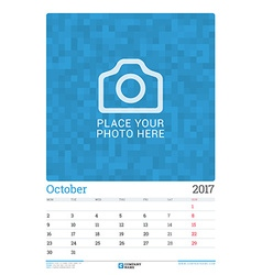 Wall Monthly Calendar Planner for 2017 Year vector