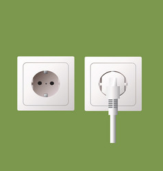 Wall socket and electric plug vector