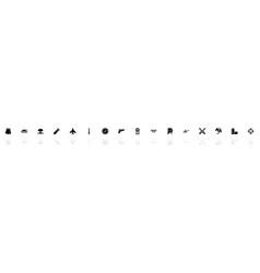 War - flat icons vector