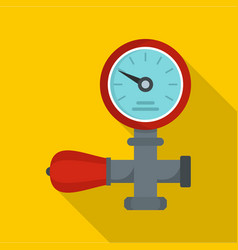 water pipe icon flat style vector image