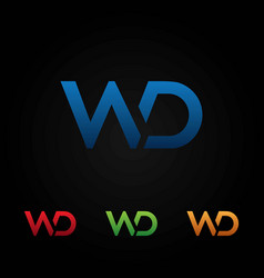 wd letters logo template vector image