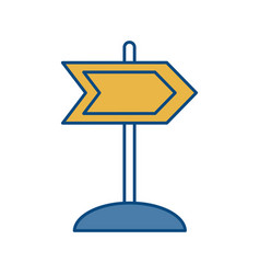 wooden road sign icon vector image