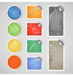 Colorful shopping vintage scratched discount stick vector image