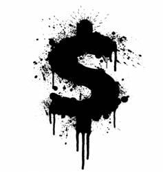 dollar splatter design vector image vector image