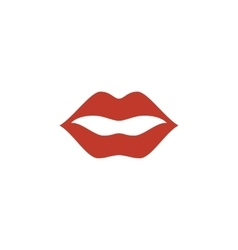 Lips icon logo on white background vector
