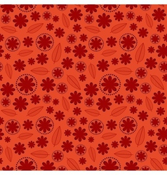 Red Floral Seamless Pattern vector image vector image