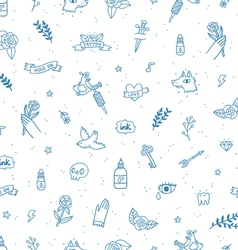 Tattoos doodle seamless pattern vector image vector image