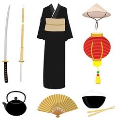 China symbol set vector image
