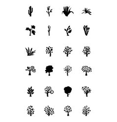 Trees Icons 4 vector image vector image