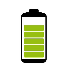 Battery symbol with level indicator charge vector