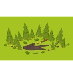Monster footprint in the forest vector image vector image