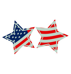 stars with stars and stripes icon vector image vector image