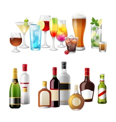 alcohol borders vector image vector image