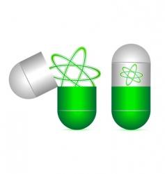 atom in capsule vector image